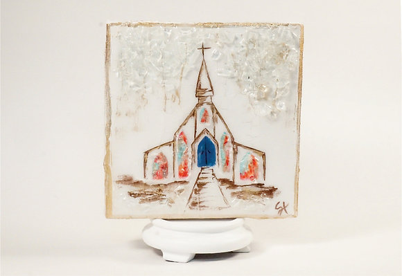 Church on Wood or Canvas - Style 2