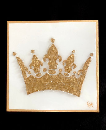 Gold Crown on Canvas