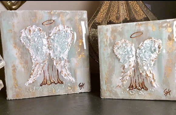 """""""Back Angel"""" on Wood or Canvas"""