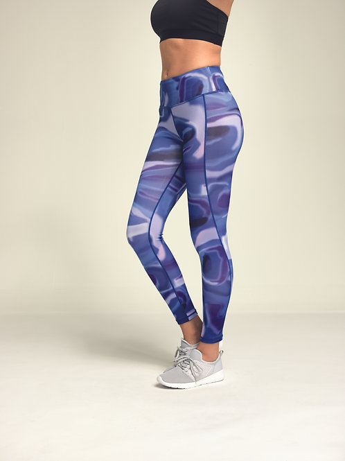 Aurora Performance Leggings Blue
