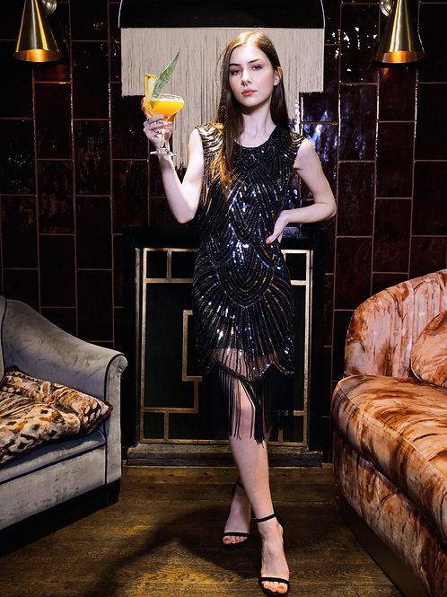 Sequin 1920s Inspired Fringe Dress