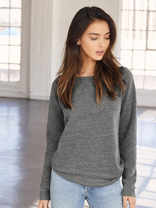 Sponge Fleece Wide Neck Sweatshirt
