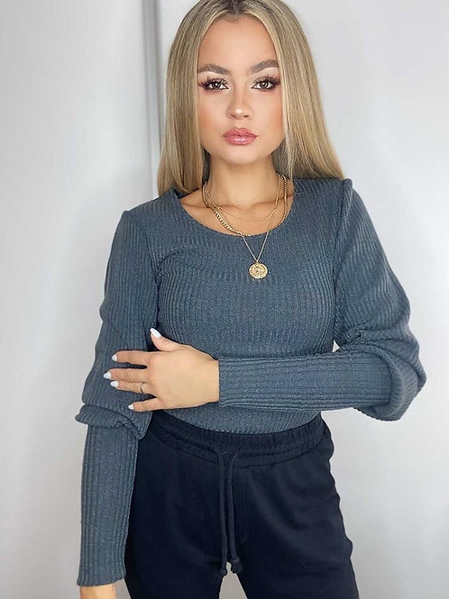 Ribbed Puff Sleeve Jumper