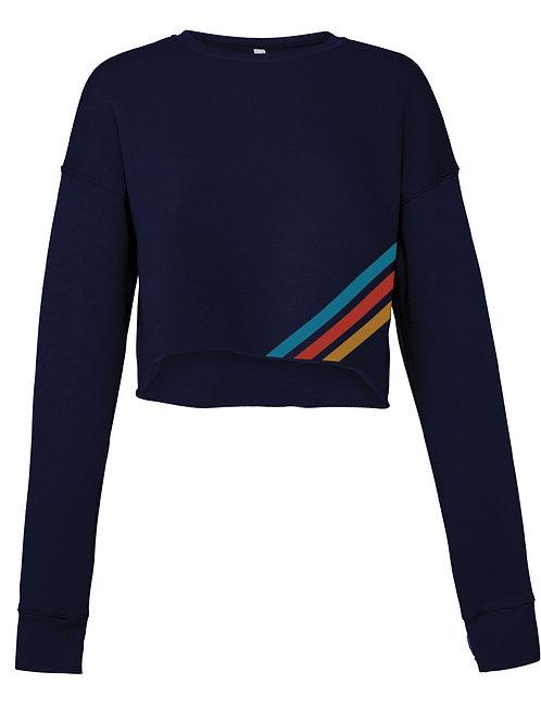 Navy  Raw Seam Sweater
