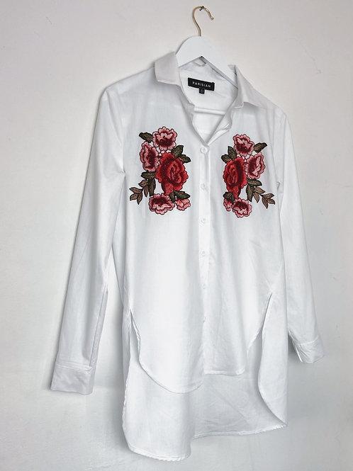 Rose Dipped Hem Shirt