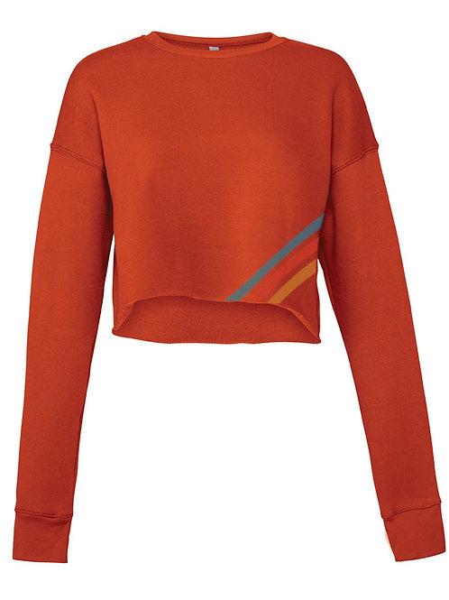 Brick Raw Seam Sweater