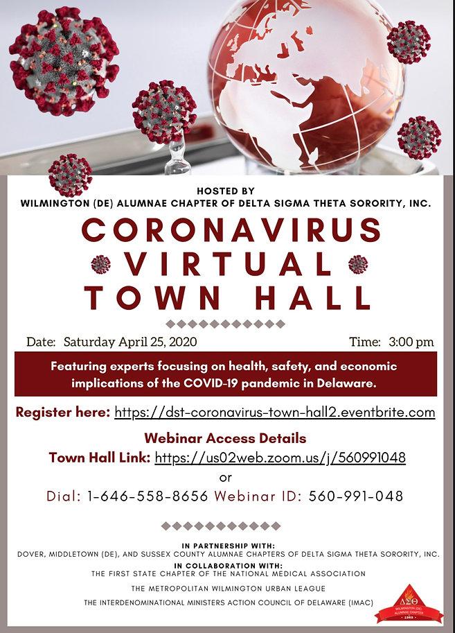 Coronavirus Town Hall April 25th