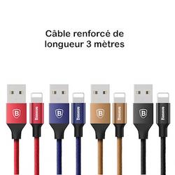 câble 3 mètres Iphone