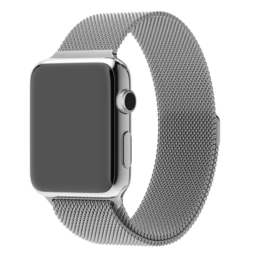 Bracelet Apple Watch milanaise argent