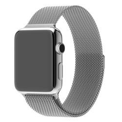 Bracelet Apple Watch milanaise argent