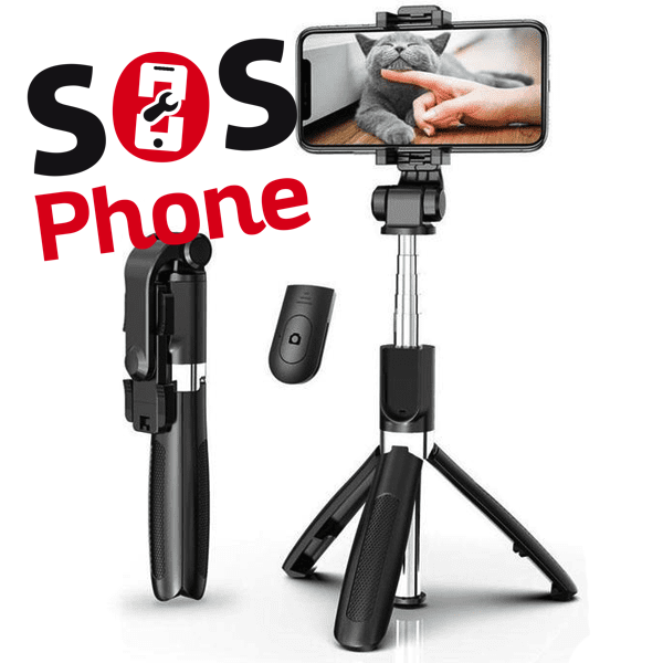 Selfie stick:trépied bluetooth
