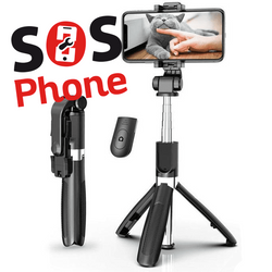 Selfie stick:trépied bluetooth