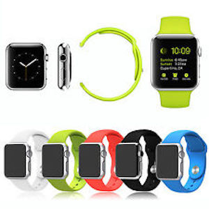 Bracelet apple watch silicone