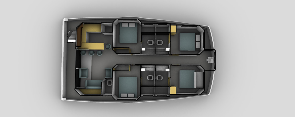 Four cabin houseboat