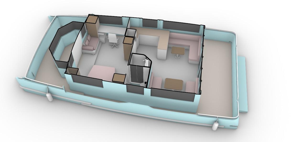 Single Cabin Houseboat