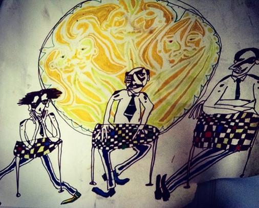 People at desks_#three #threesome #threestooges #threemuskateers #threeisamagicnumber