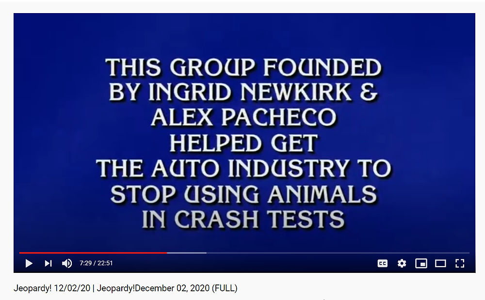 Jeopardy Peta Alex Pacheco 600 Million Dogs