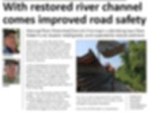 Warroad River West Branch restoration project in Cedarbend Township