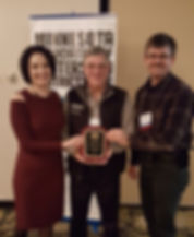 WRWD Managers Keith Landin and Brian Schaible accept an Honor Award from Emily Javen, MAWD executive director.