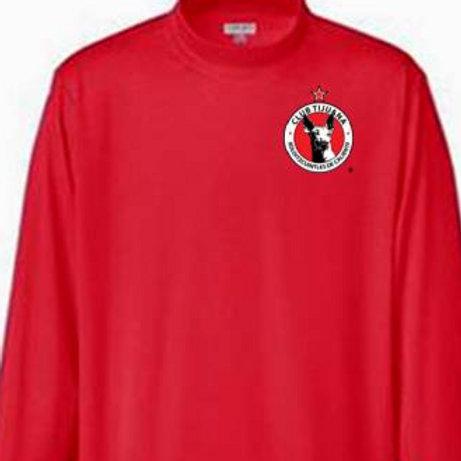 Xolos NJ Red Mock Long sleeve top