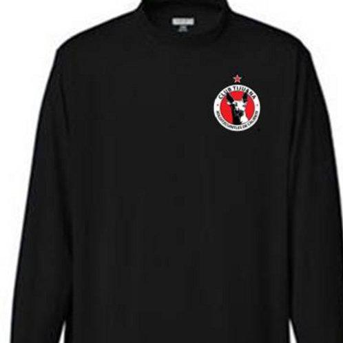 Xolos NJ Black Mock Long sleeve top