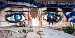 Painting at the port of Mytilene