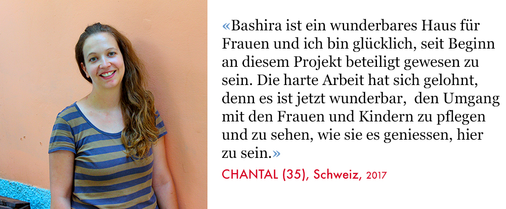 Chantal, Volunteer SAO Association