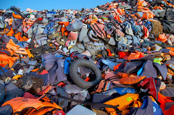 Cemetery of life jackets
