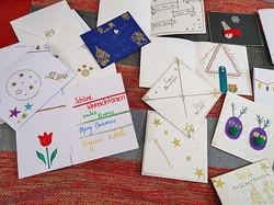Making Christmas cards at Bashia
