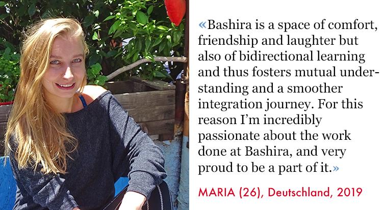 Maria, Volunteer SAO Assocciation