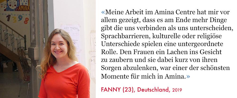 Fanny, Volunteer SAO Association