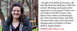 Milena, Volunteer SAO Association