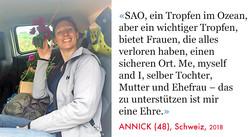Annick, Volunteer SAO-Association