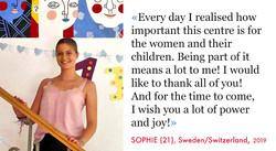 Sophie, Volunteer SAO Association