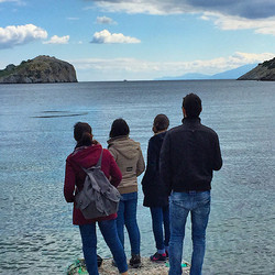 Four at the beach on Lesvos