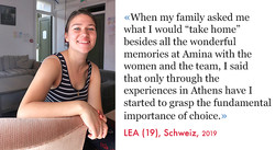 Lea, Volunteer SAO Assocaiton 2019