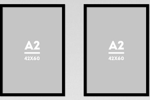 kit 2 Molduras para impressão 40cm por 60cm