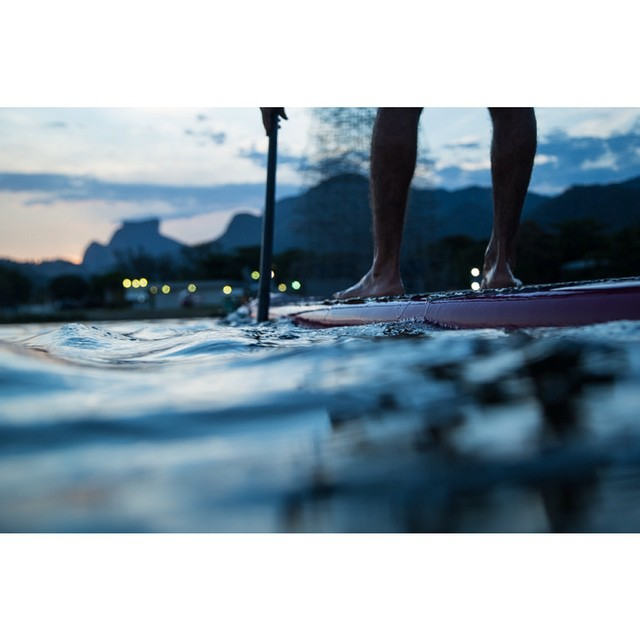 Instagram - SUP na Lagoa @vinmartins ! Valeu o treino de tardinha! #annaveronica