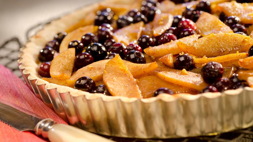 Pear & Blueberry Tart