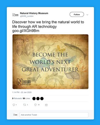 NHM Twitter Post Mockup