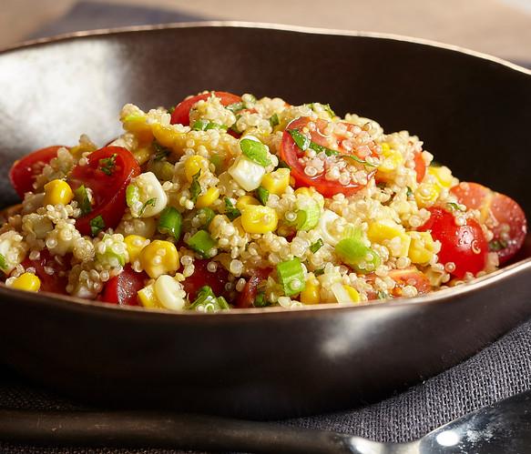 Quinoa Corn & Basil Salad