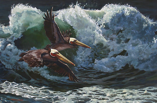 Carol Heiman-Greene _Catching Waves_ 24x