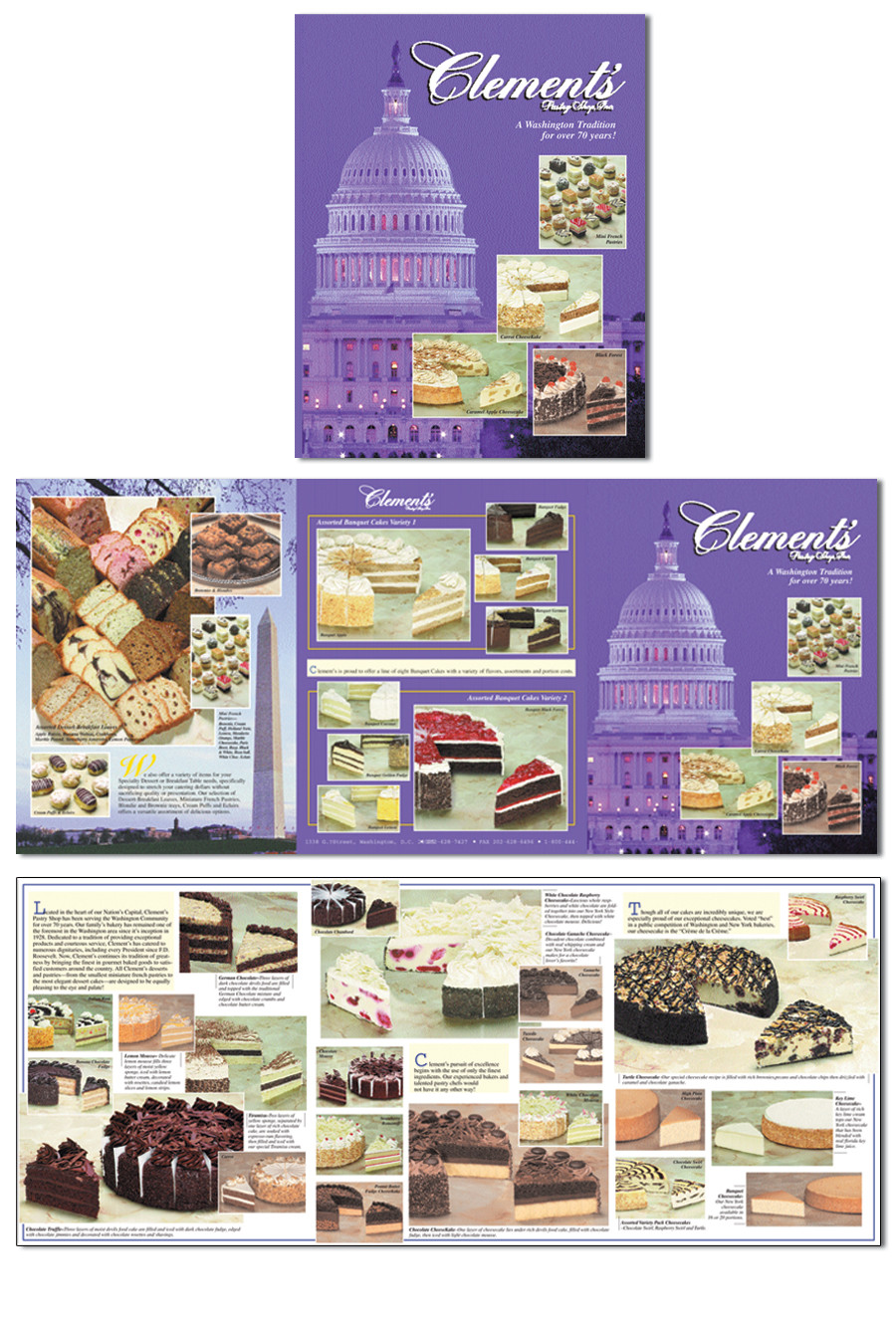 Clements Pastry Shop Product Brochure