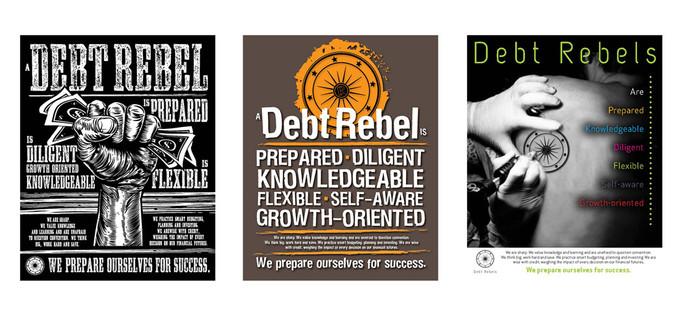 Debt Rebel College Poster Series