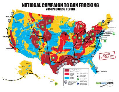 Food & Water Watch US Fracking Map