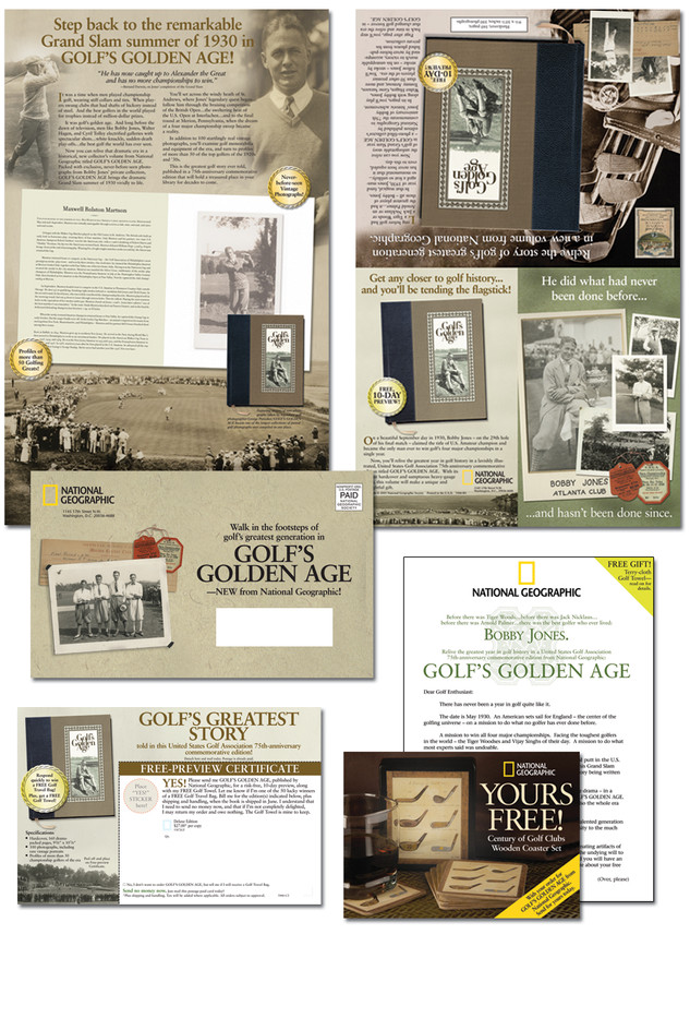 National Geographic Golf Book Promotion