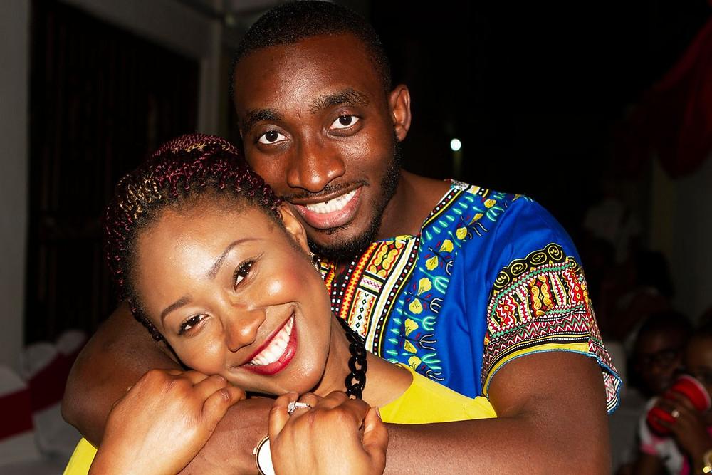 Tolulope Olajide UK and Chidinma Olajide UK in love, full smile