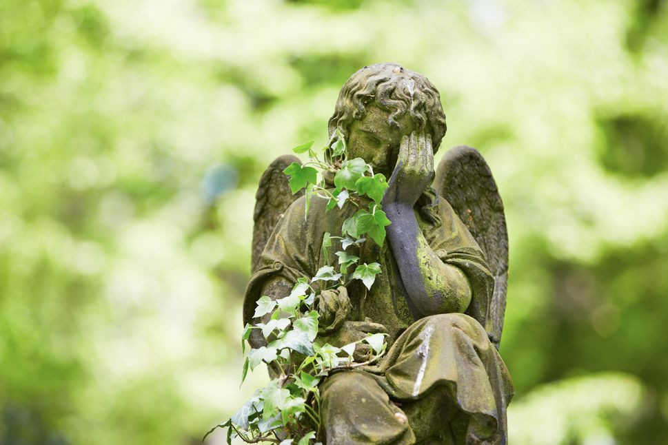 Cemetery Figurine| First Visit to My Loved One's Grave | Balanced Wheel