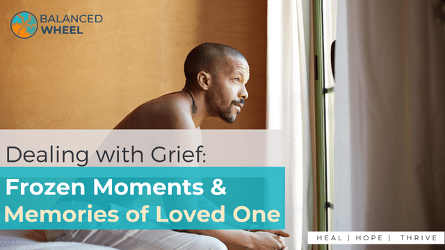 Portrait of pensive african black man sitting in bedroom   Dealing with Grief - Frozen Moments and Memories of Loved One   Balanced Wheel