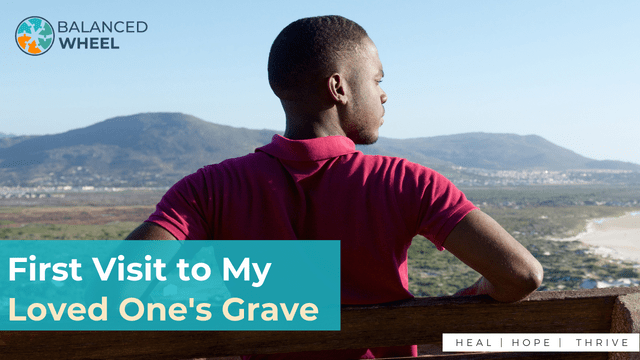 Young african sat on a bench | First Visit to My Loved One's Grave | Balanced Wheel